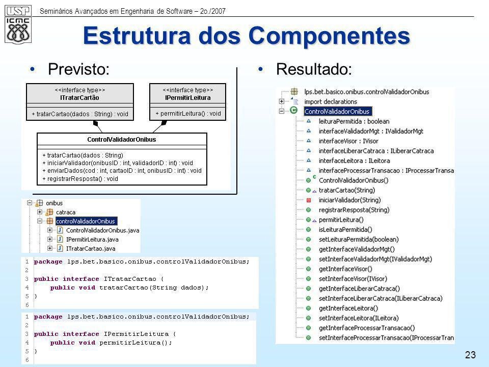 Estrutura dos Componentes