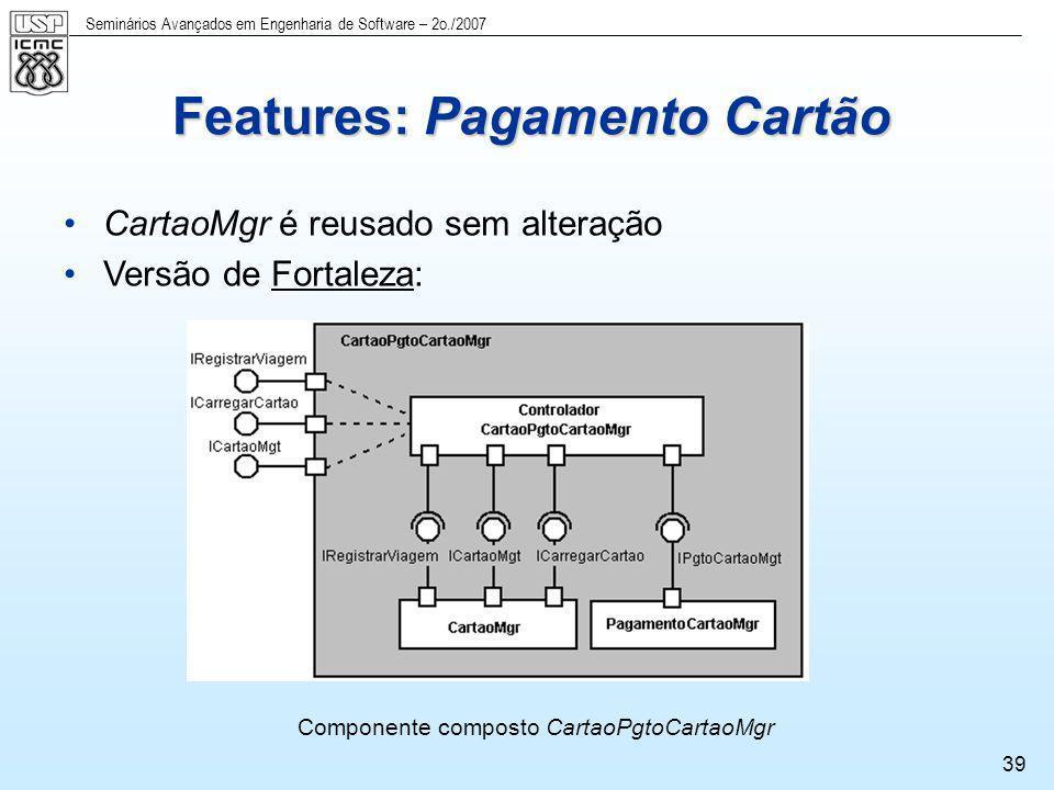 Features: Pagamento Cartão