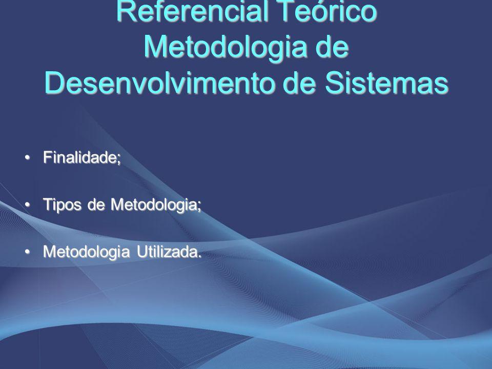 Referencial Teórico Metodologia de Desenvolvimento de Sistemas
