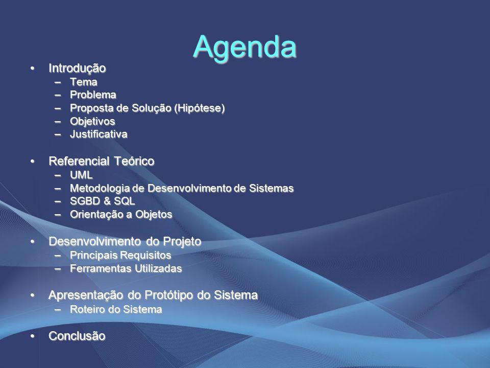 Agenda Introdução Referencial Teórico Desenvolvimento do Projeto