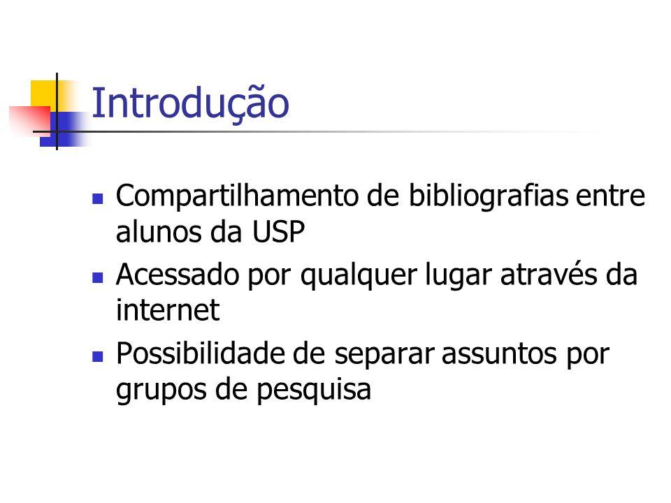 Introdução Compartilhamento de bibliografias entre alunos da USP