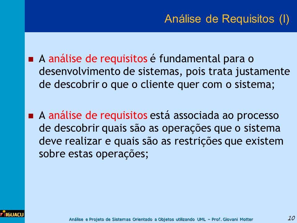 Análise de Requisitos (I)