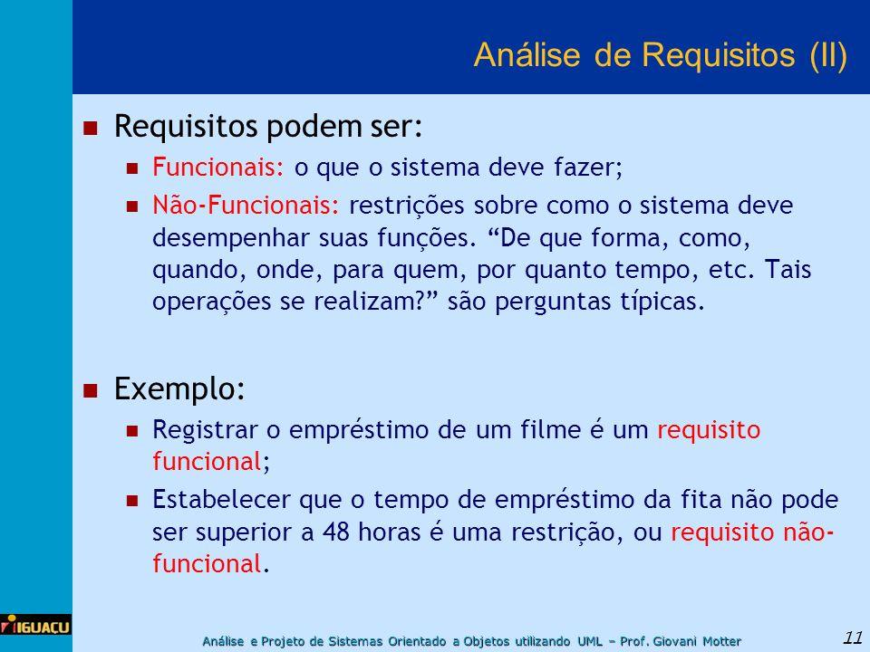 Análise de Requisitos (II)