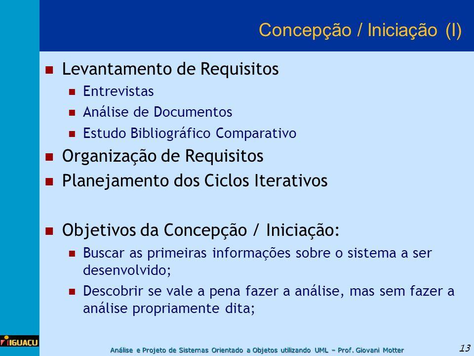 Concepção / Iniciação (I)