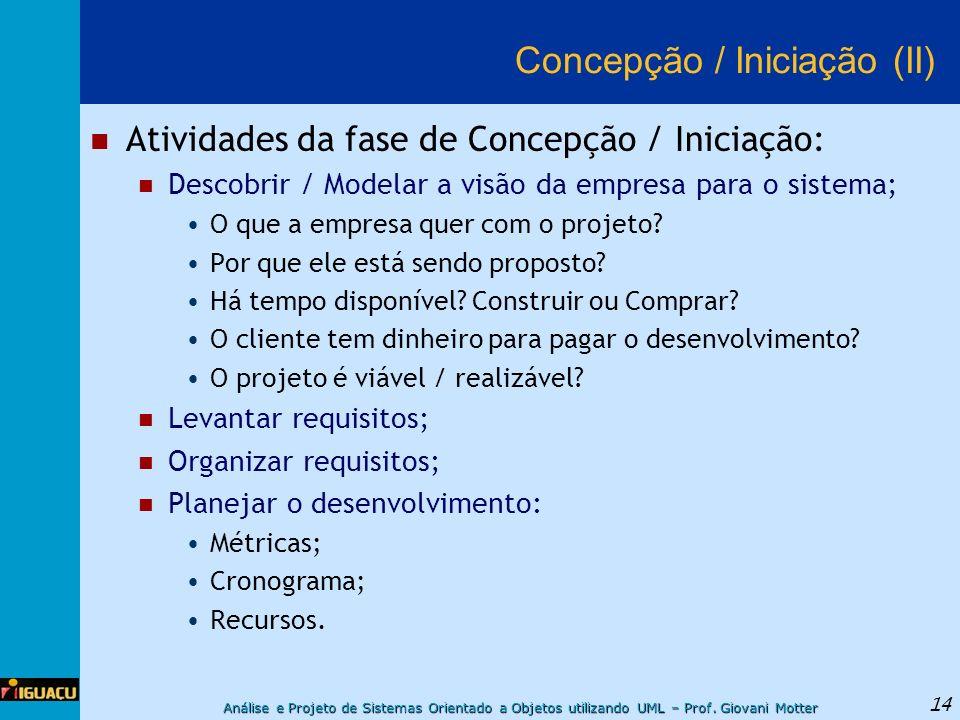 Concepção / Iniciação (II)