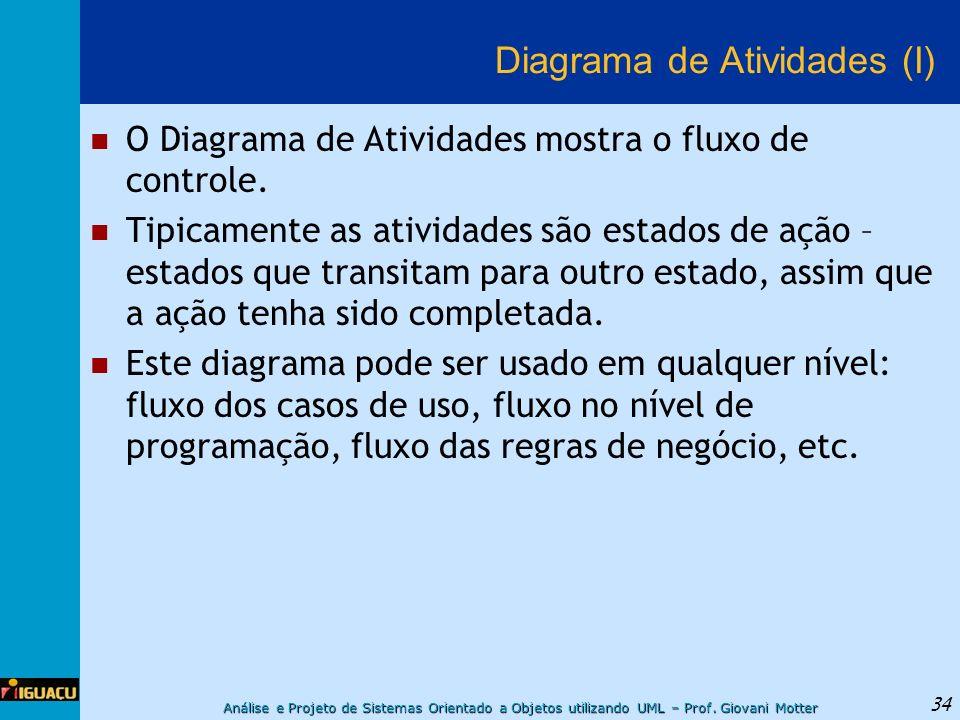 Diagrama de Atividades (I)