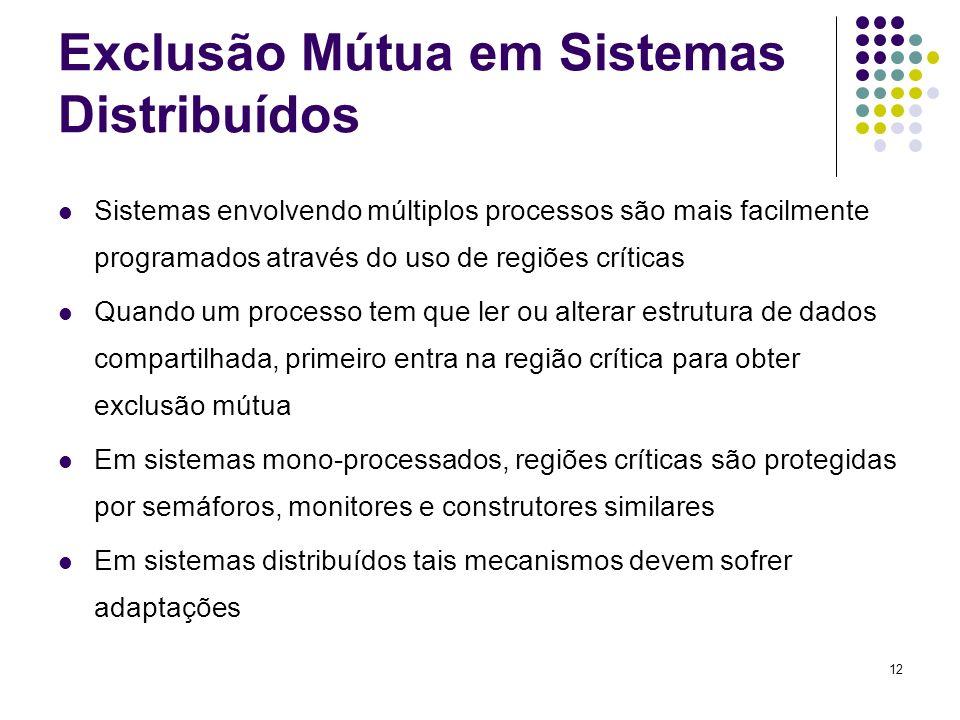 Exclusão Mútua em Sistemas Distribuídos
