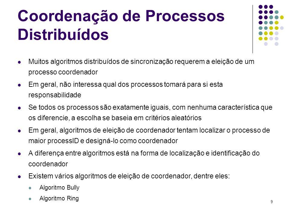 Coordenação de Processos Distribuídos