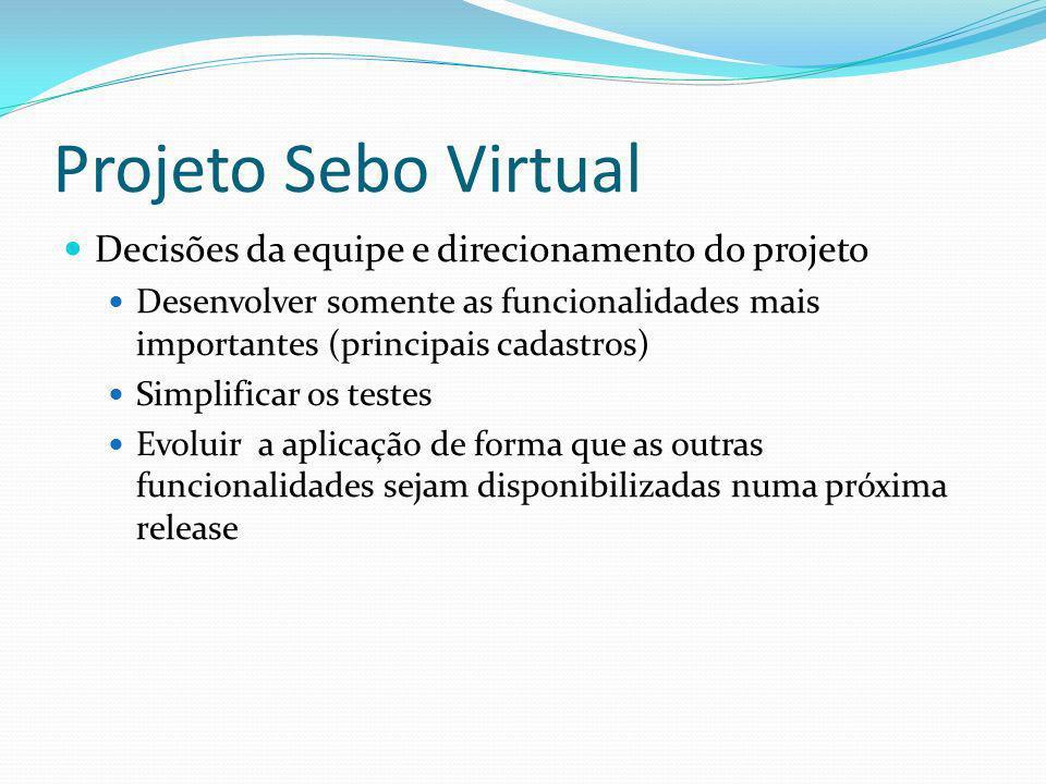 Projeto Sebo Virtual Decisões da equipe e direcionamento do projeto