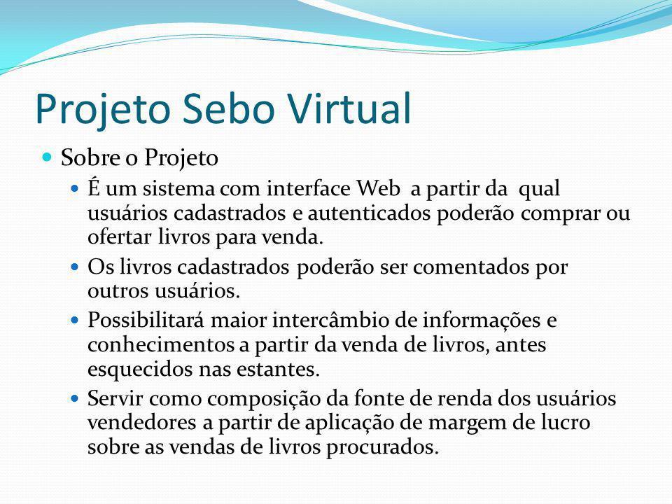Projeto Sebo Virtual Sobre o Projeto