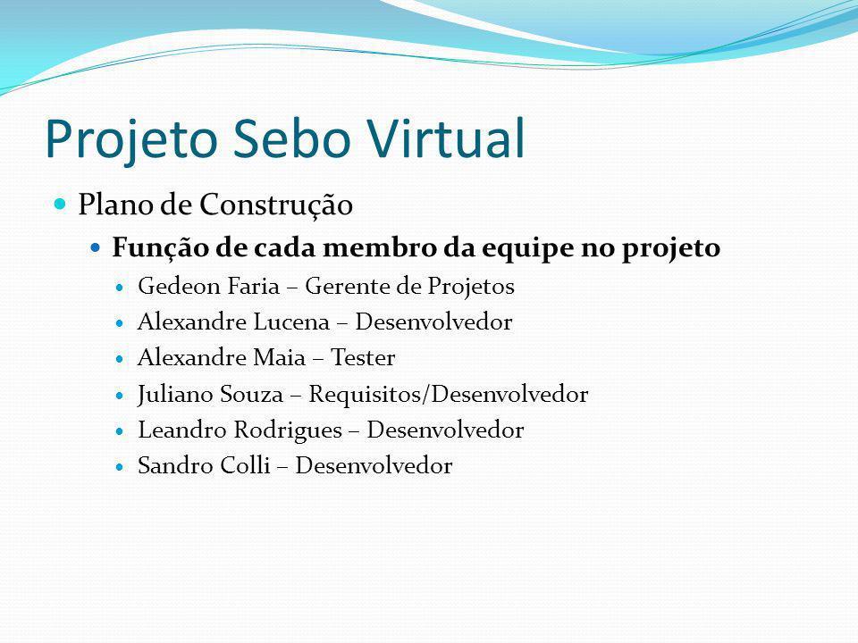 Projeto Sebo Virtual Plano de Construção