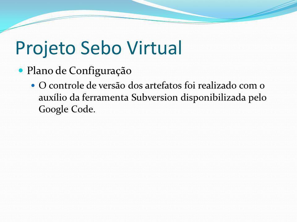 Projeto Sebo Virtual Plano de Configuração