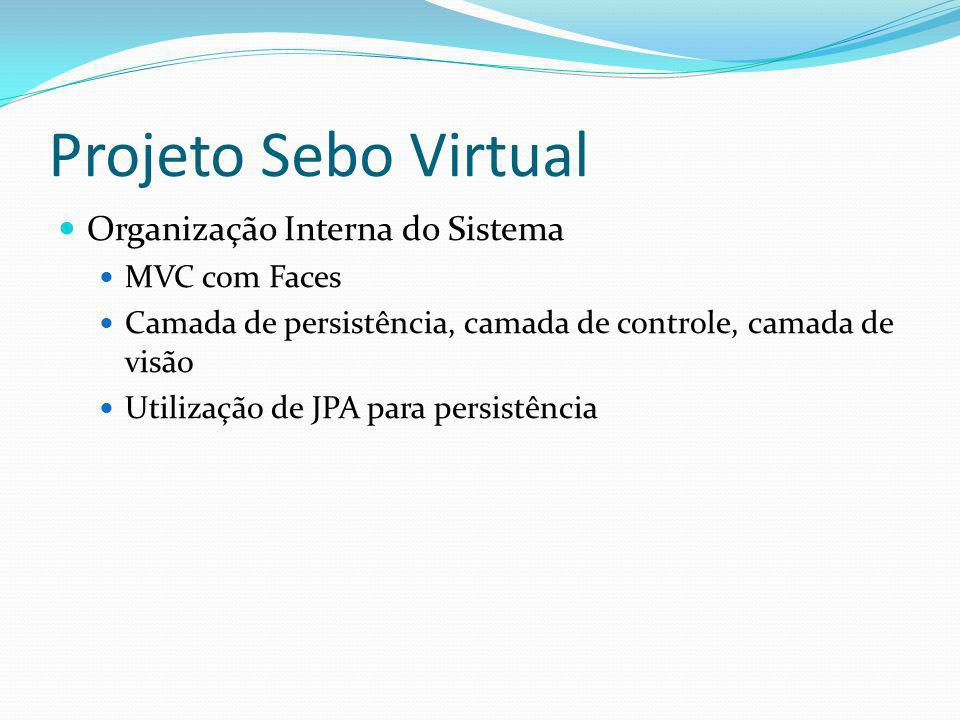 Projeto Sebo Virtual Organização Interna do Sistema MVC com Faces