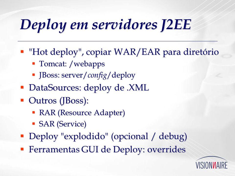 Deploy em servidores J2EE