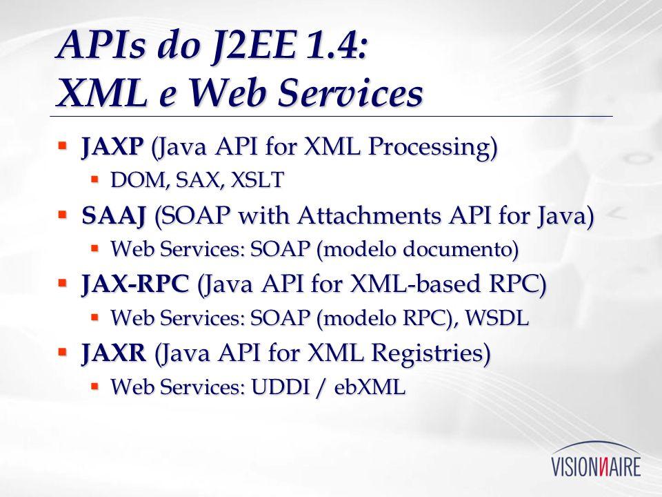APIs do J2EE 1.4: XML e Web Services