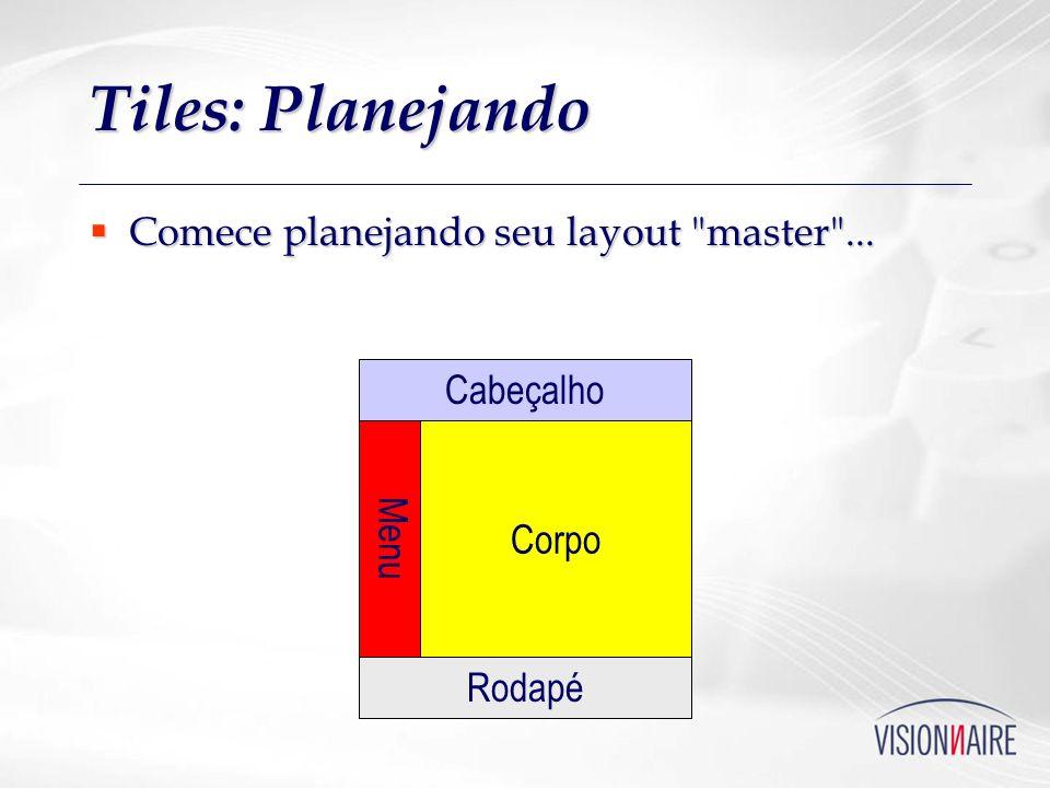 Tiles: Planejando Comece planejando seu layout master ... Cabeçalho
