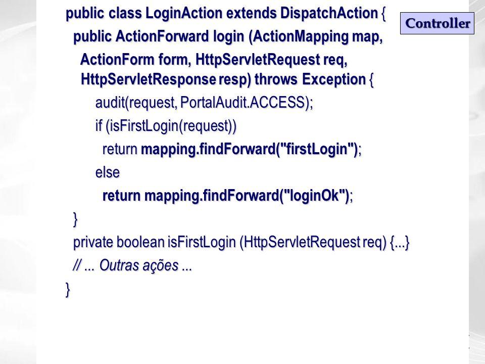 public class LoginAction extends DispatchAction {