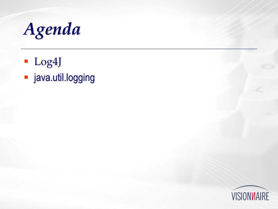 Agenda Log4J java.util.logging