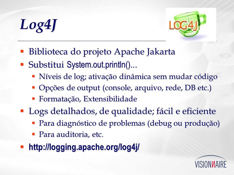 Log4J Biblioteca do projeto Apache Jakarta