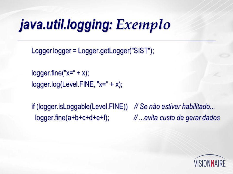 java.util.logging: Exemplo