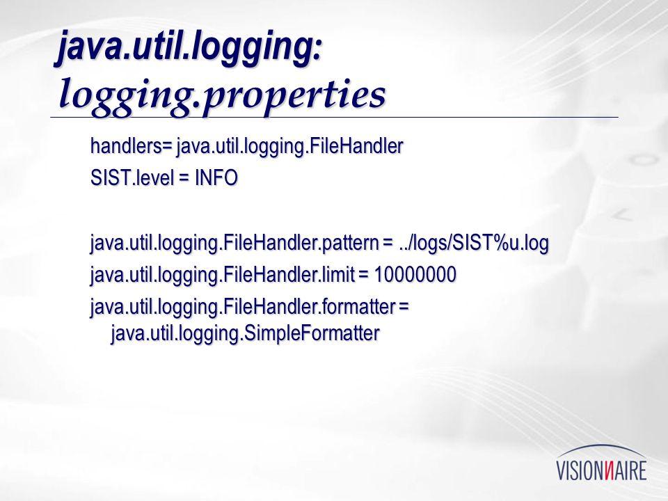 java.util.logging: logging.properties