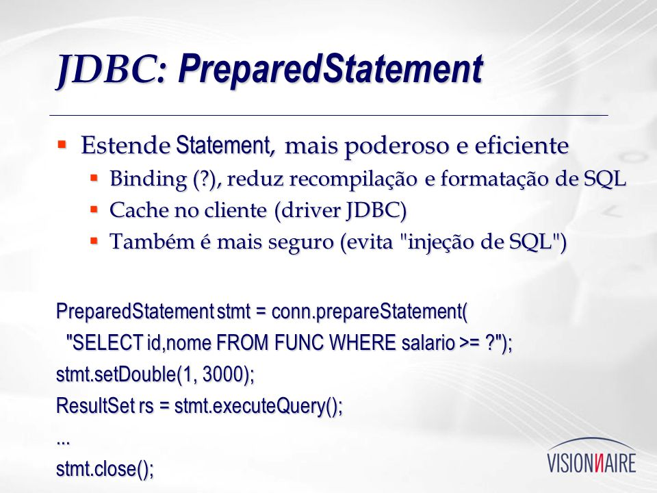 JDBC: PreparedStatement