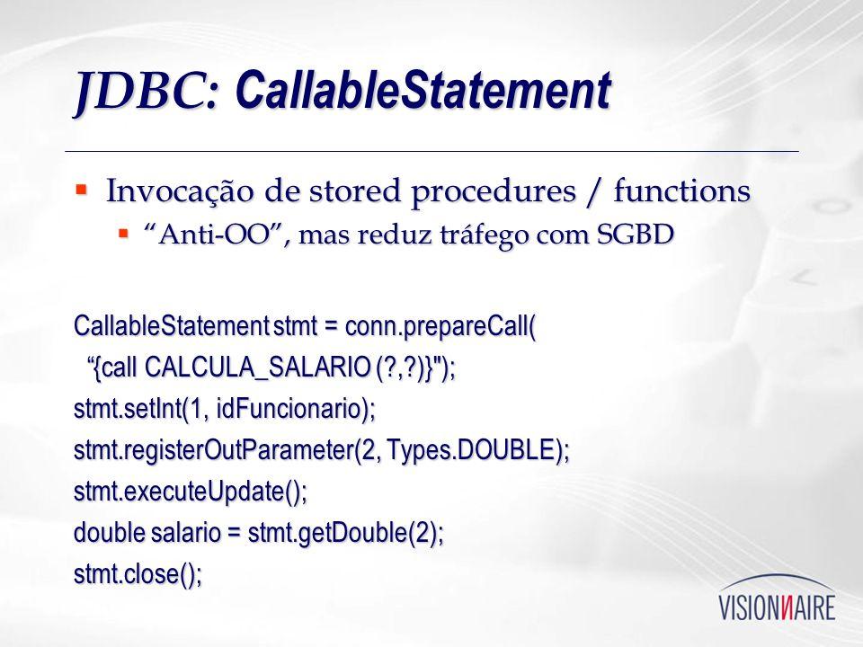 JDBC: CallableStatement