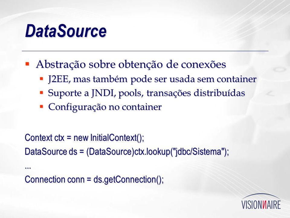 DataSource Abstração sobre obtenção de conexões