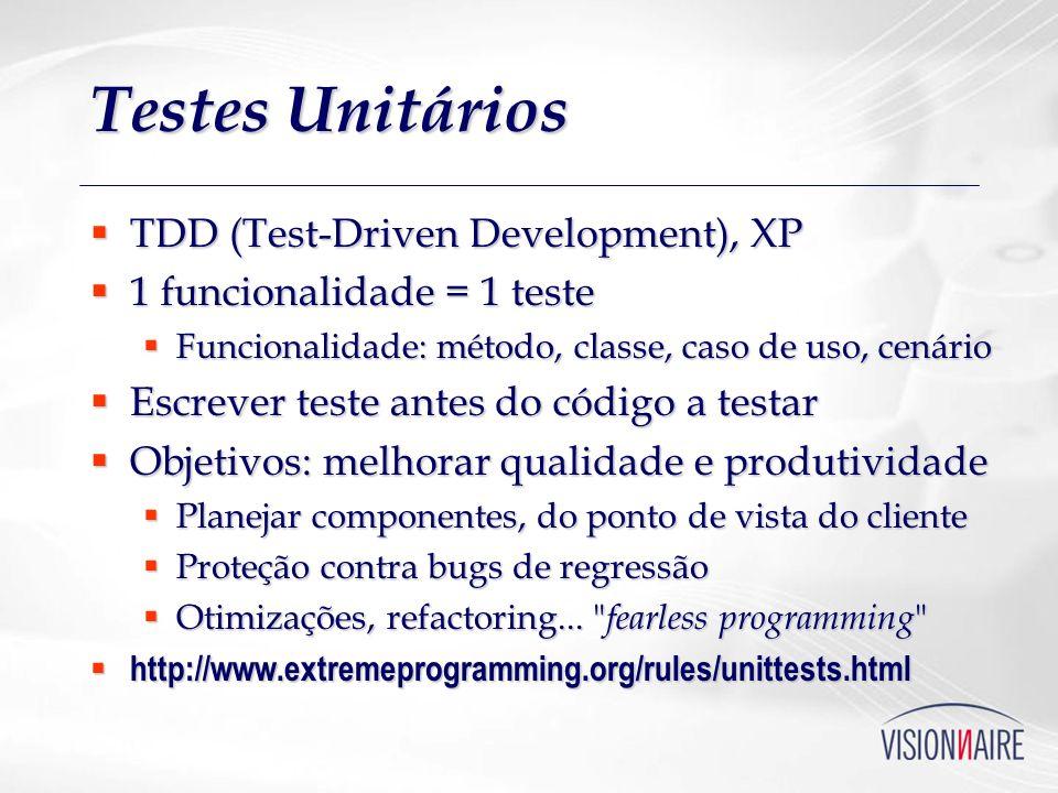 Testes Unitários TDD (Test-Driven Development), XP