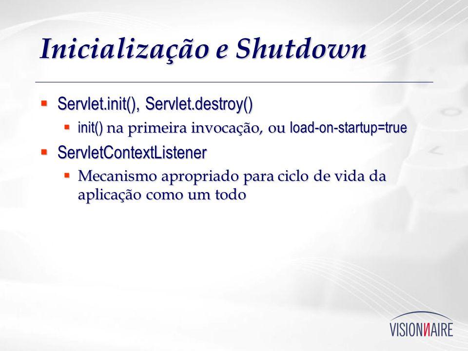 Inicialização e Shutdown