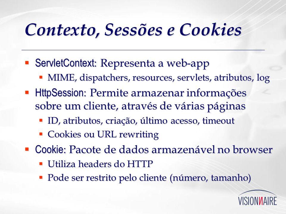 Contexto, Sessões e Cookies