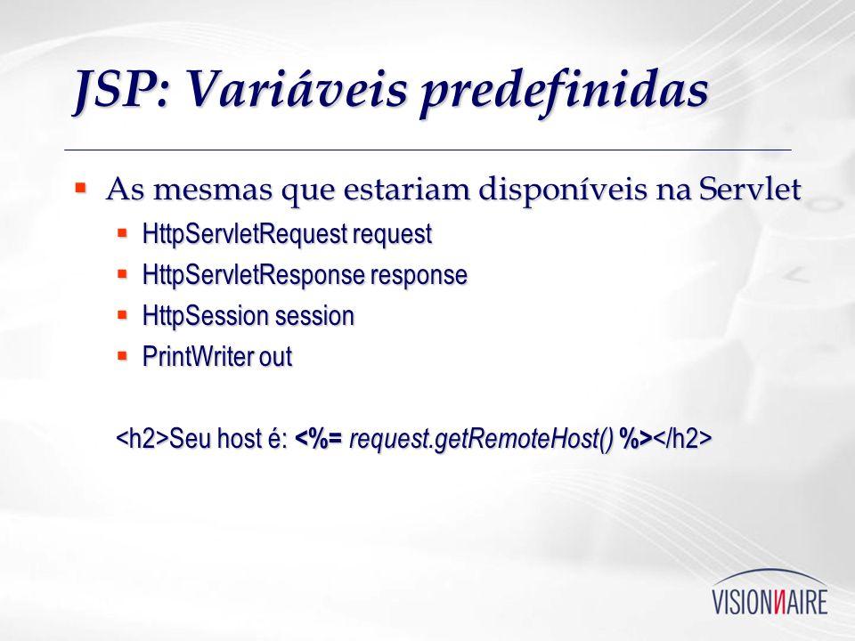 JSP: Variáveis predefinidas