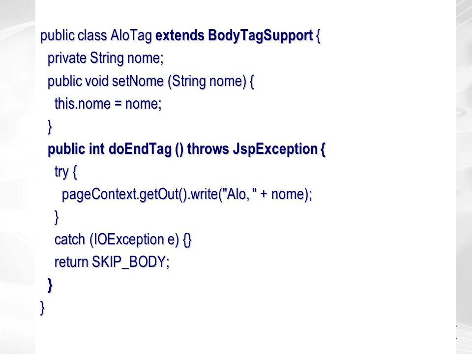 public class AloTag extends BodyTagSupport {