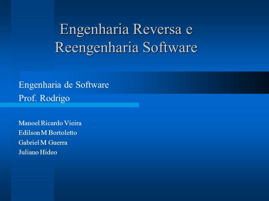 Engenharia Reversa e Reengenharia Software