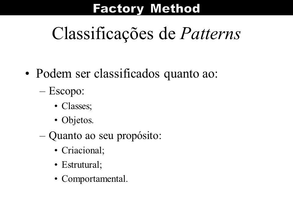 Classificações de Patterns