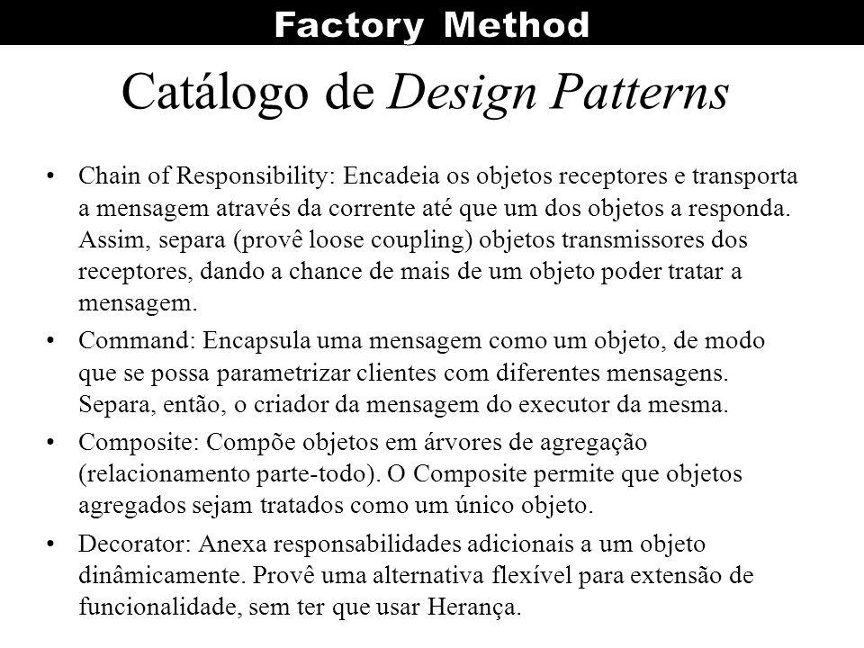 Catálogo de Design Patterns