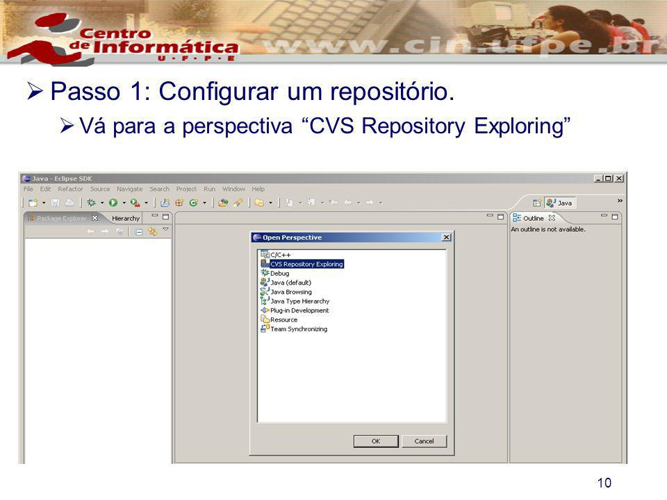 Passo 1: Configurar um repositório.