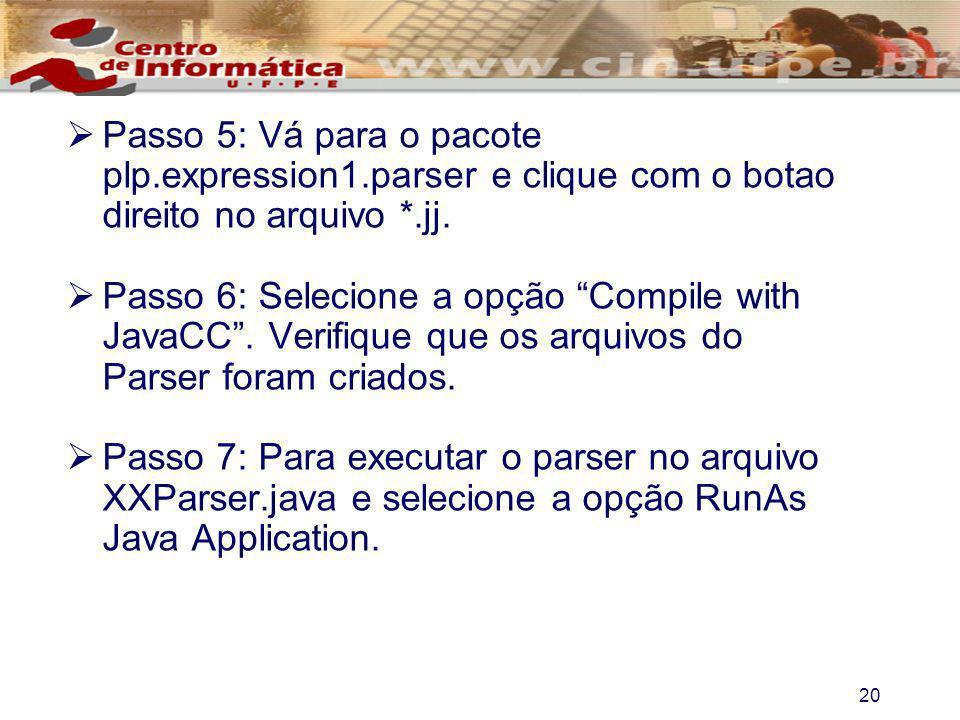 Passo 5: Vá para o pacote plp. expression1