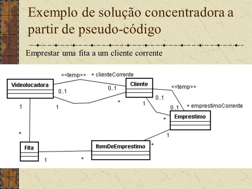 Exemplo de solução concentradora a partir de pseudo-código