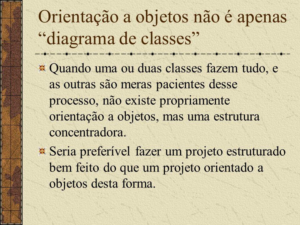 Orientação a objetos não é apenas diagrama de classes