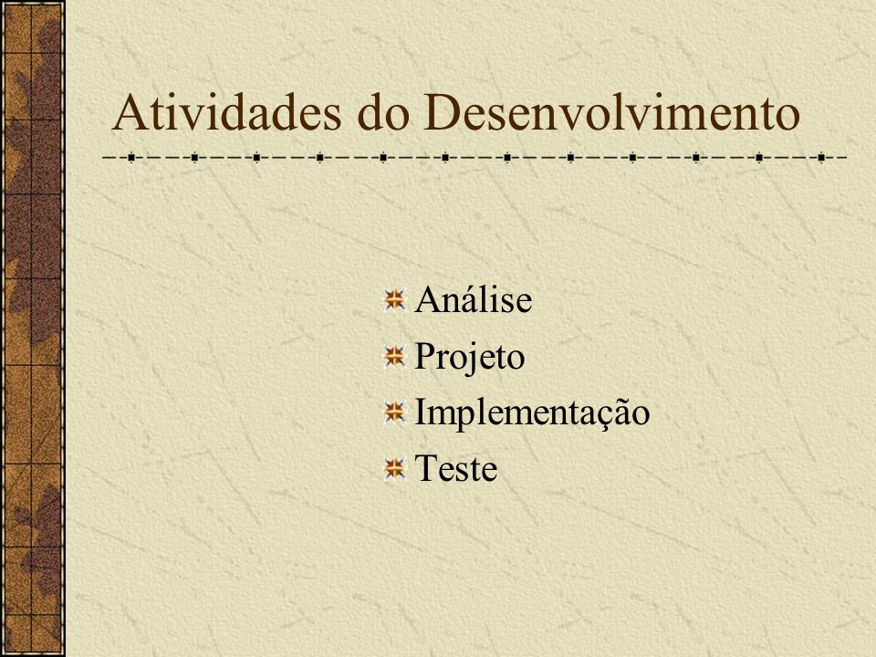 Atividades do Desenvolvimento