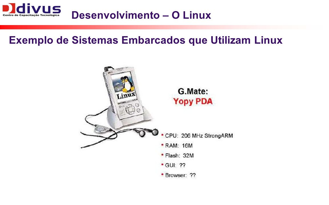 Desenvolvimento – O Linux
