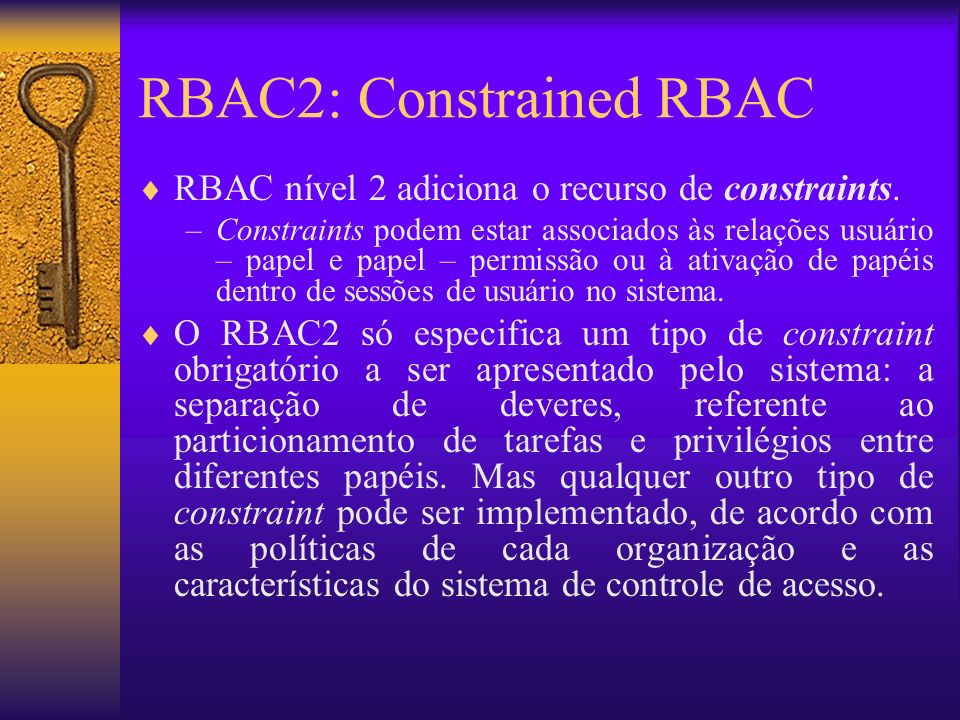 RBAC2: Constrained RBAC