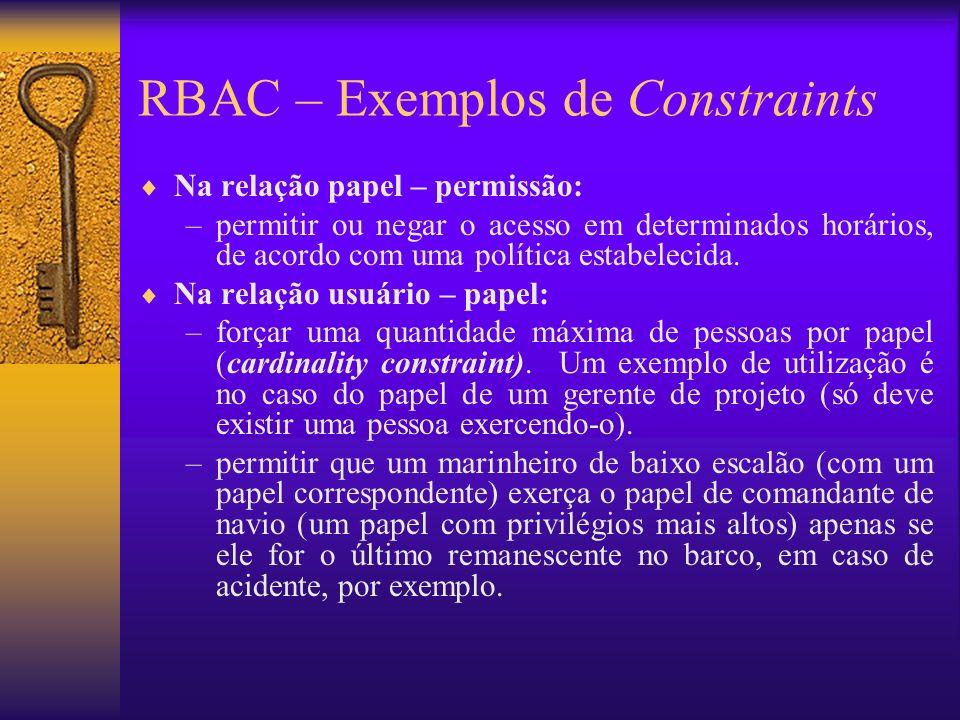 RBAC – Exemplos de Constraints