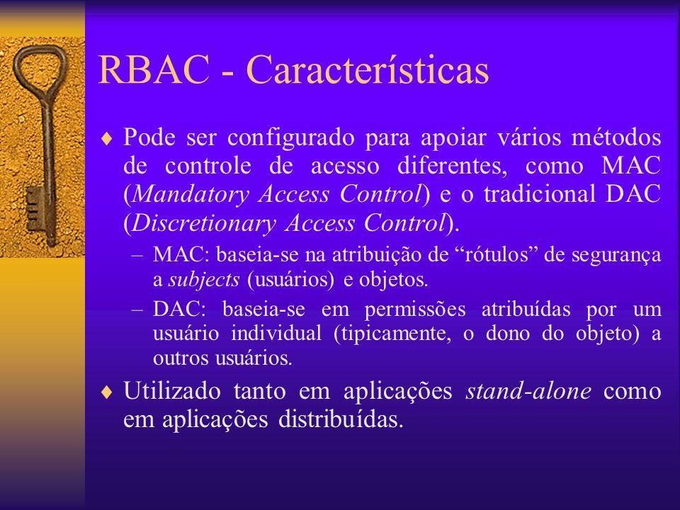 RBAC - Características