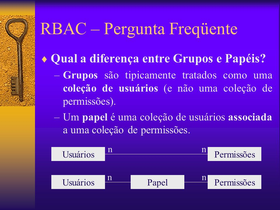 RBAC – Pergunta Freqüente