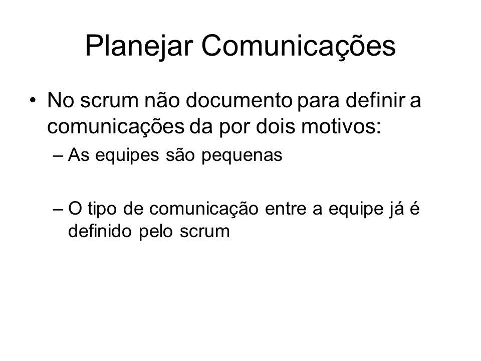 Planejar Comunicações