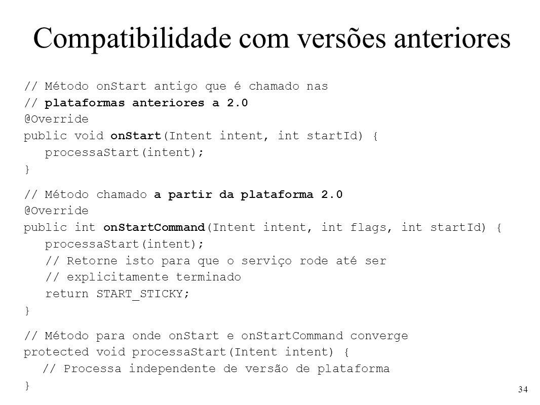 Compatibilidade com versões anteriores