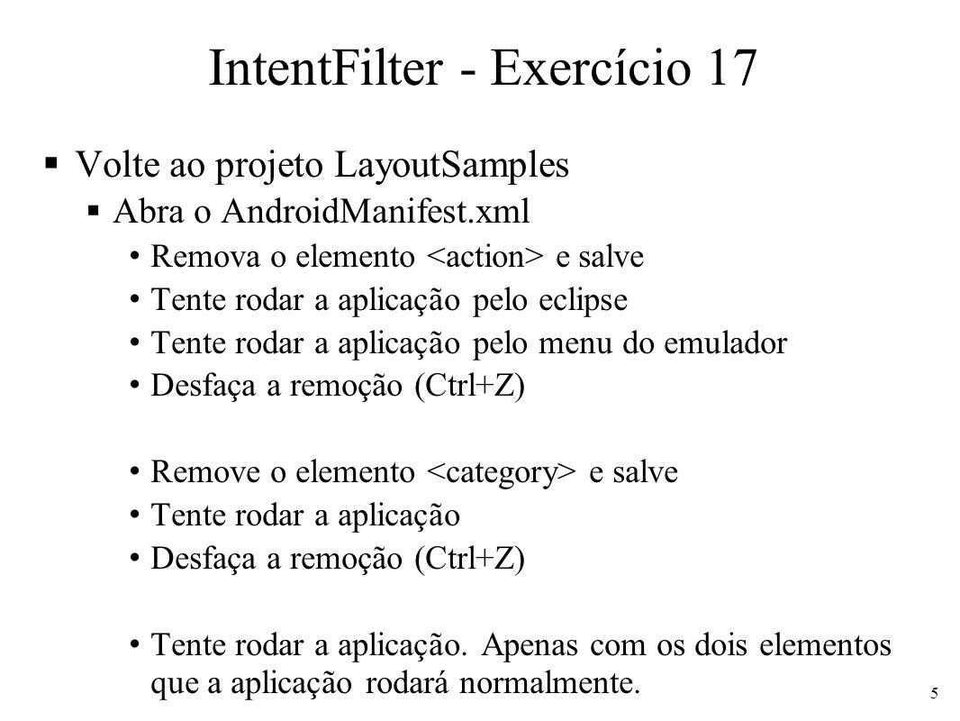 IntentFilter - Exercício 17