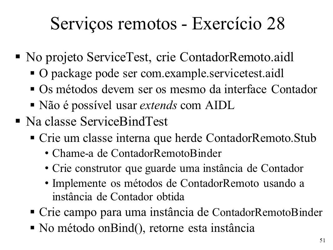 Serviços remotos - Exercício 28